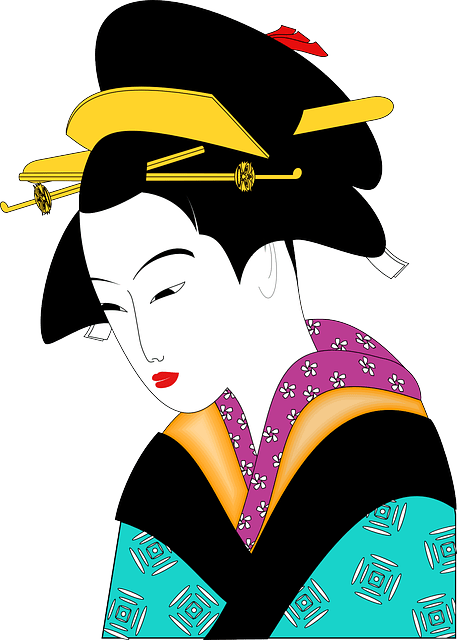 Beauty Girl In The World Wallpaper Free Vector Graphic Kimono Geisha Woman Asian Free