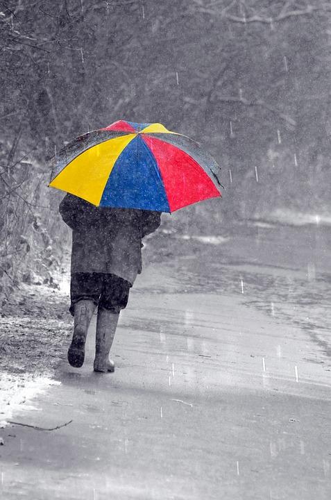 Happy Girl In Rain Wallpaper Free Photo People Man Men Umbrella Color Free Image