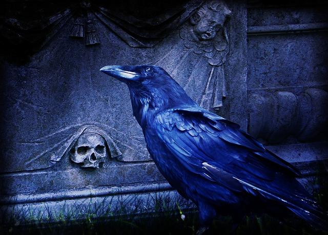 Trippy Wallpaper Hd Free Photo Composing Raven Dark Cemetery Free Image