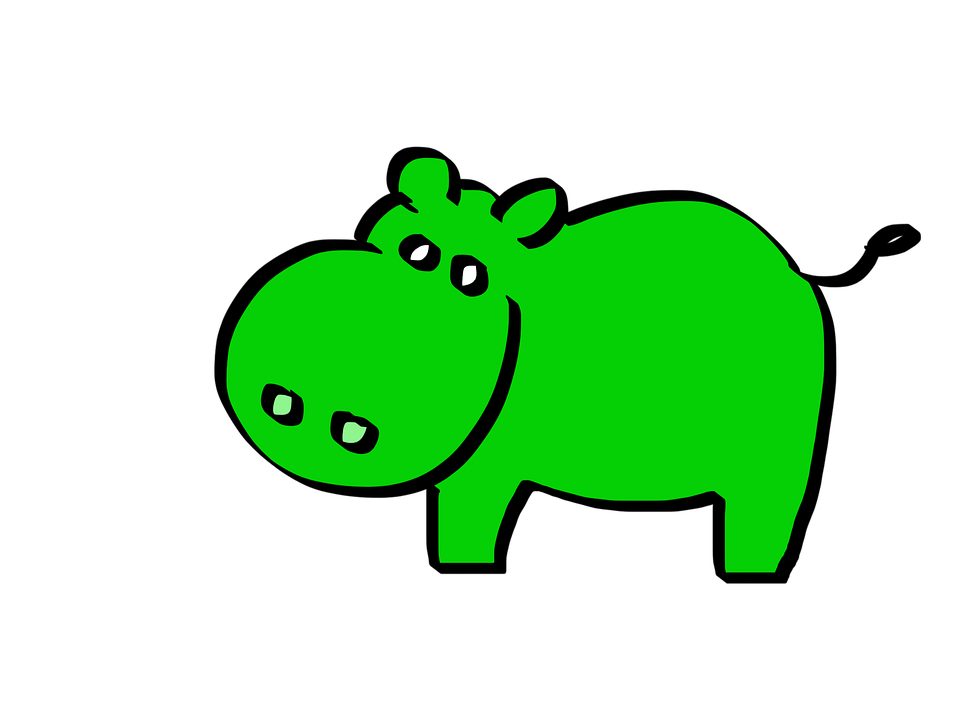 Car Wallpaper Clipart Green Hippo Cartoon 183 Free Image On Pixabay