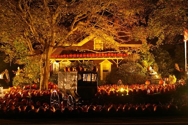 Free Fall Pumpkin Desktop Wallpaper Halloween Pumpkins Scene 183 Free Photo On Pixabay