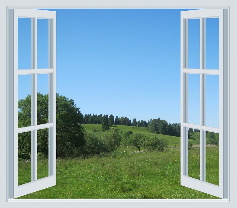 3d Door Wallpaper Free Photo Mountain Meadow Alm Window Open Free