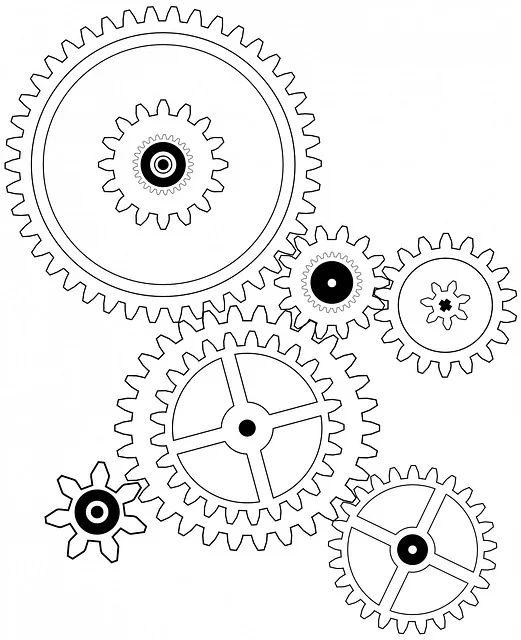 clock gears diagram gear system and clock