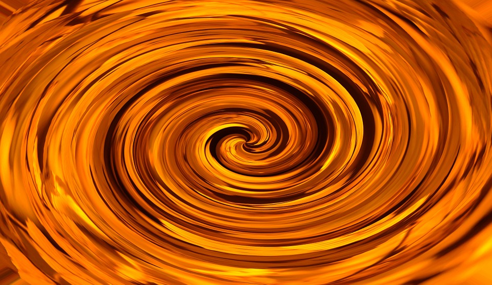 Black And Gold Textured Wallpaper Free Illustration Orange Roundabout Spiral Eddy Free