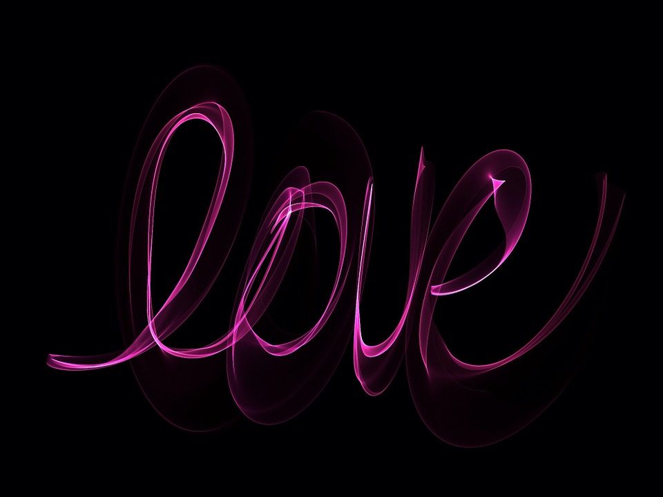 Cute Word Wallpaper Free Illustration Neon Love Glowing Writing Free
