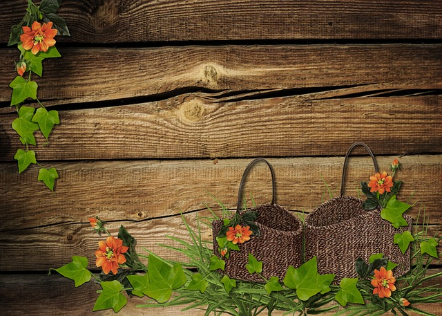 Pink Fall Wallpaper Flowers Rustic Baskets 183 Free Photo On Pixabay