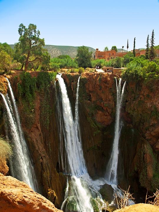 Water Fall Hd Wallpaper 4k Photo Gratuite Ouzoud Maroc Tombe Chute D Eau Image