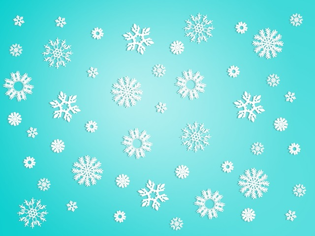 Cute Merry Christmas Wallpaper Dogs Free Illustration Snow Snowflake Background Winter