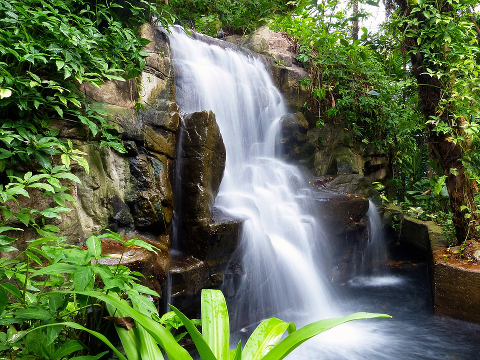 Falls Hd Wallpaper Free Download Free Photo Waterfall Rock Flowing Landscape Free