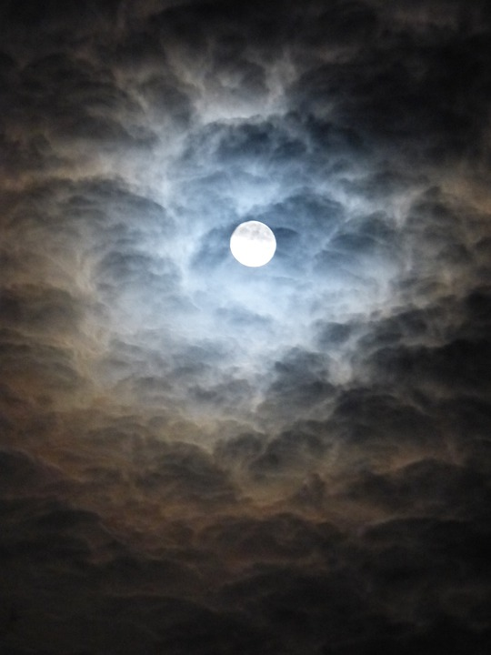 Medical Wallpaper Hd Free Photo Moon Blurry Clouds Blue Free Image On