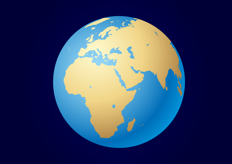3d Blue Sky Wallpaper Free Vector Graphic Earth Blue Planet Globe Free