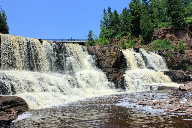 Falls Wallpaper Download Gooseberry Falls Waterfalls Usa 183 Free Photo On Pixabay