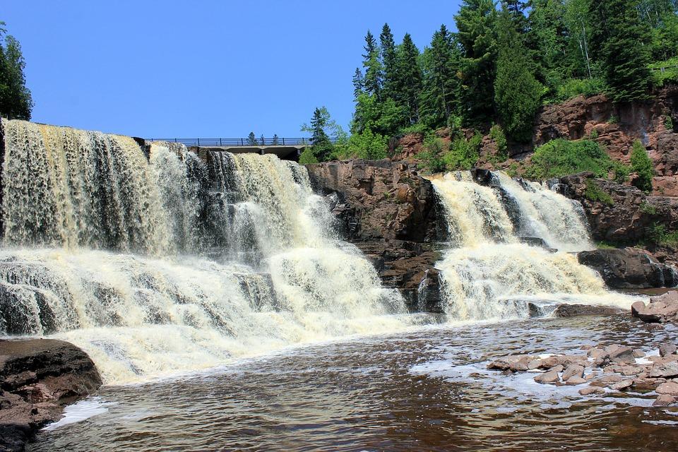 Wallpaper Of Water Fall Gooseberry Falls Waterfalls Usa 183 Free Photo On Pixabay