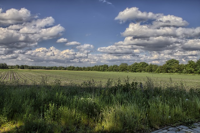 Vista Wallpaper Hd Foto Gratis Paisagem Nuvens Campo C 233 U Azul Imagem