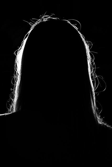 Sad Girl Standing Alone Wallpapers Free Photo Silhouette Woman Dark Light Free Image On