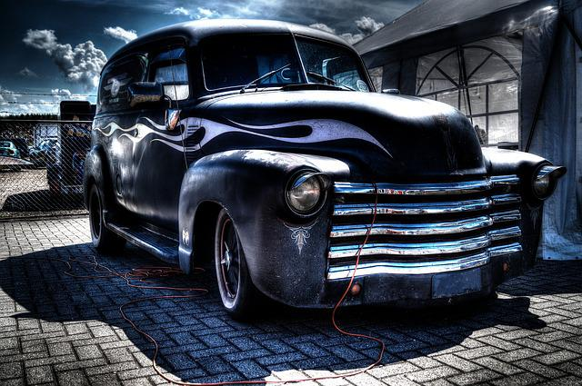 Black And Blue Cars 4k Wallpaper Free Photo Oldtimer Car Classic Car Old Free Image