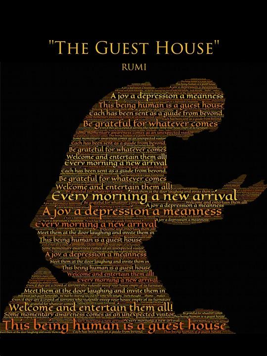 Black Music Wallpaper Hd Free Illustration Rumi The Guest House Gratitude Free