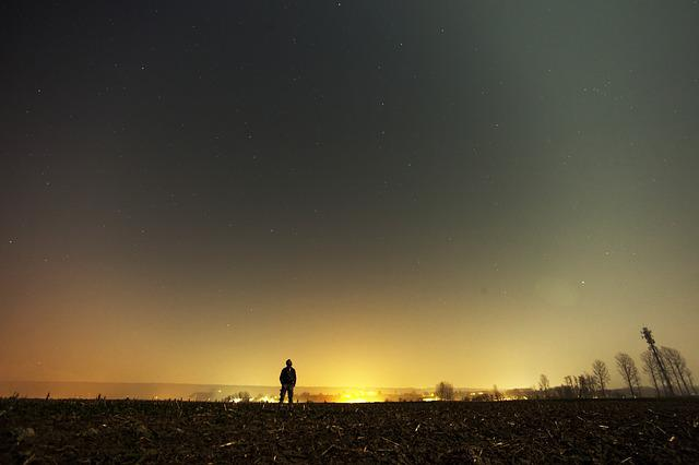 Sad Girl Hd Wallpaper Free Download Free Photo Man Alone Landscape Sky Stars Free Image