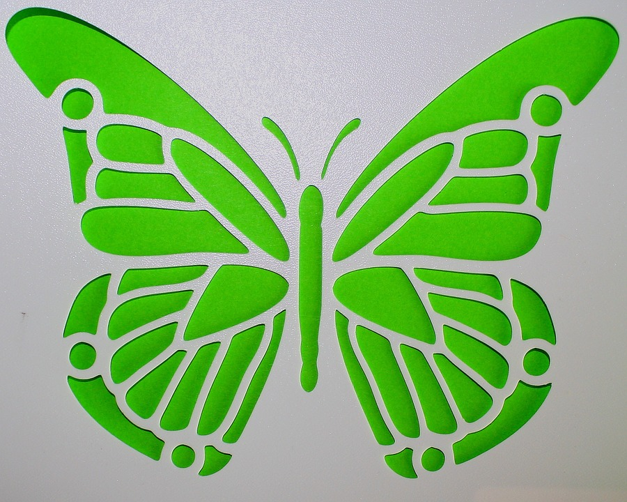 Free photo Butterfly, Template, Green, Mural - Free Image on - butterfly template