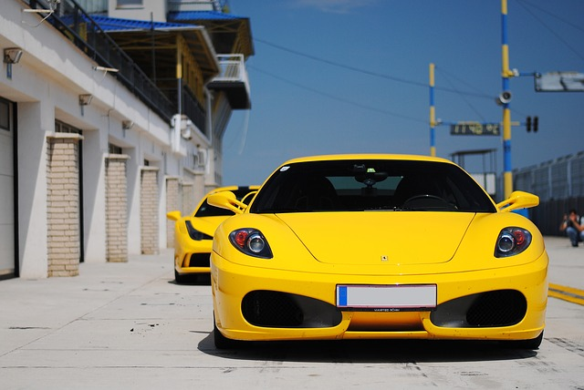 4k Red And Yellow Car Wallpaper Free Photo Ferrari Yellow Sports Car Free Image On