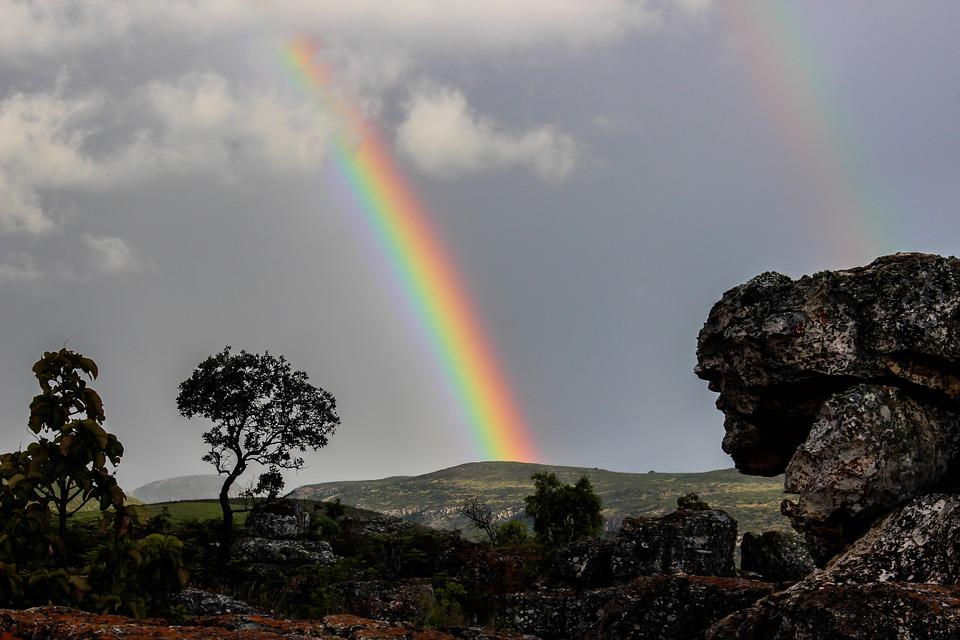 Nature Wallpaper With Life Quotes Free Photo Rainbow Nature Africa Ecological Free