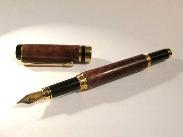 Black Vintage Wallpaper Free Photo Fountain Pen Wooden Pen Free Image On