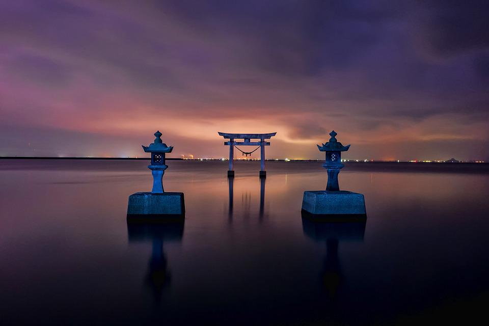 Sea Hd Wallpapers 1080p Free Photo Japan Shrine Torii Sea Kumamoto Free