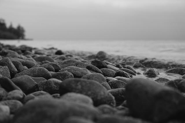 Blue Flower Granite Free Photo: Stones, Beach, Black And White - Free Image On