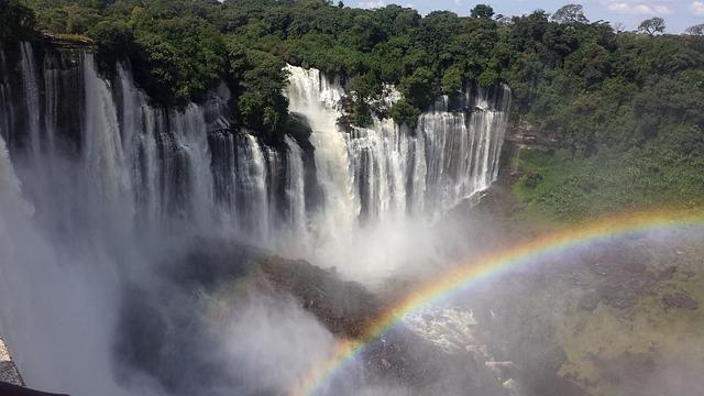 Iguazu Falls Brazil Wallpaper Free Photo Cataracts Angola Rainbow Nature Free