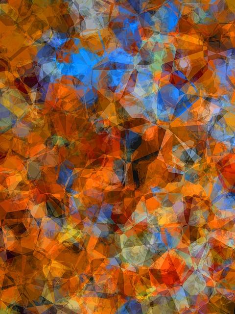 abstract flower art