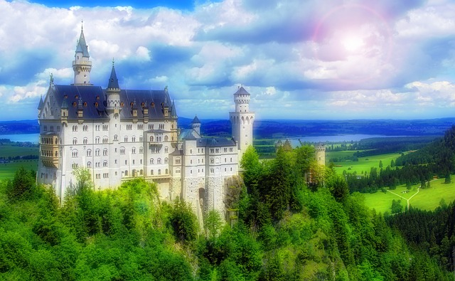 Anime Girl Looking At Sky Wallpaper Free Photo Castle Fairy Tale Kingdom Free Image On
