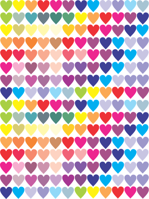 Cute Small Girl Wallpapers For Facebook Free Vector Graphic Heart Love Color Colorful Free