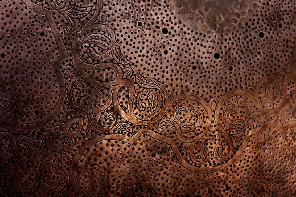 Black Rose Wallpaper Free Photo Arabic Arabesque Metal Texture Free Image