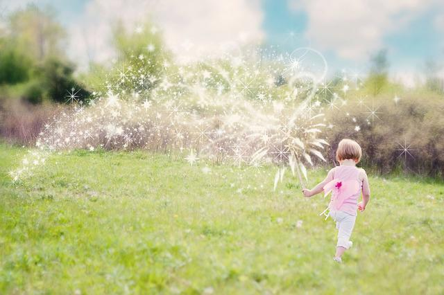 Facebook Wallpaper Hd Girl Free Photo Little Girl Magic Glitter Trail Free Image