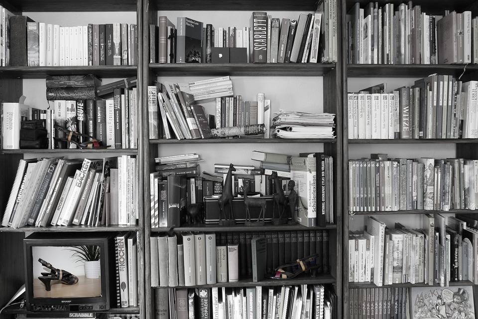 Books Shelf Retro Black And Free Photo On Pixabay