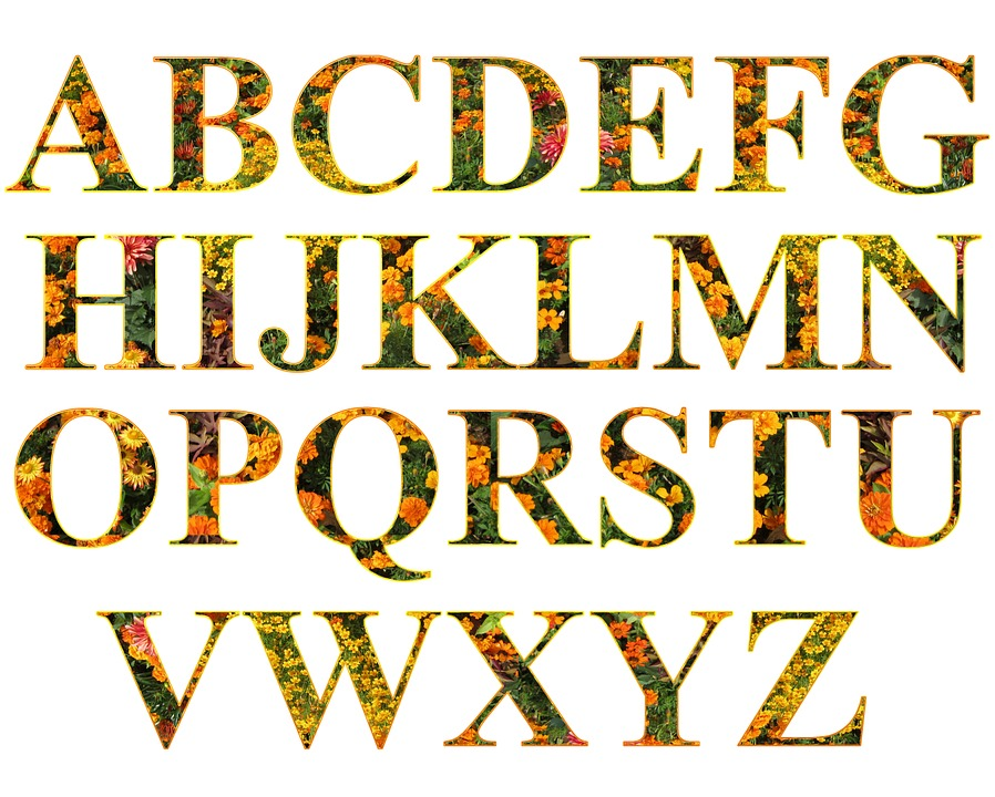 Letters Alphabet Filled - Free image on Pixabay