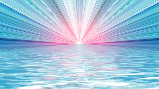 Sun Wallpaper Hd Free Illustration Rays Water Wave Sun Light Mood