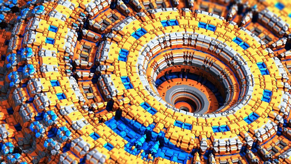 3d Wallpaper Editor Free Illustration Complex Fractal Chaos Grid Free