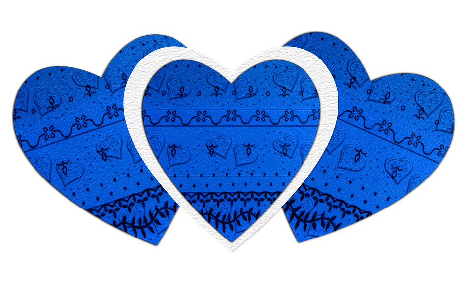 Wallpaper Hd Floral Hearts Love Blue 183 Free Image On Pixabay