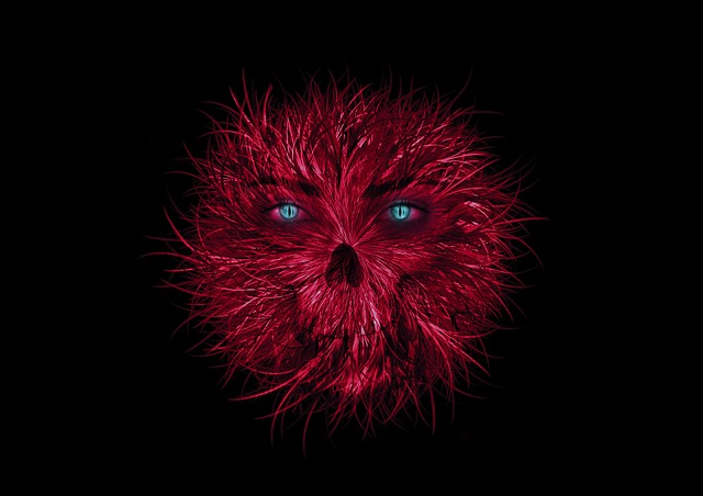 Free Cute Girl Wallpaper Free Illustration Monster Red Eyes Aggressive Free