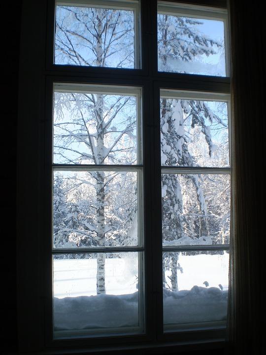 Snow Falling Gif Wallpaper Free Photo Winter Window View Snow Cold Free Image