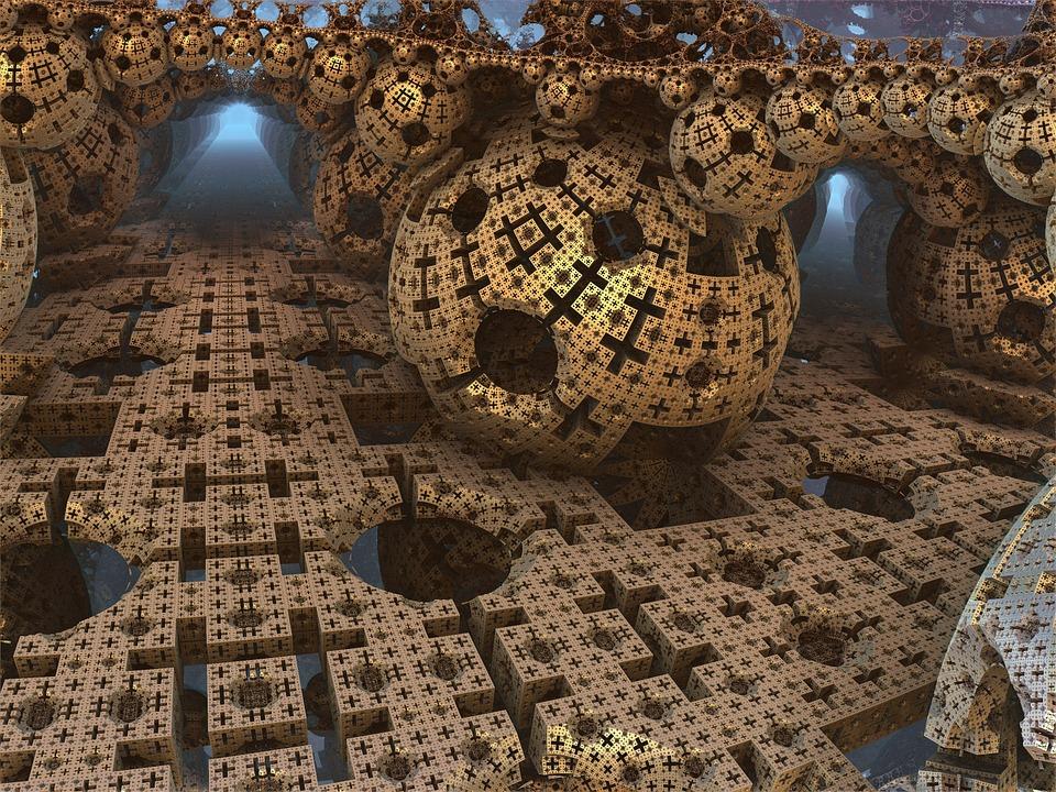 Abstract Art Wallpaper Hd Free Illustration Menger Sponge Ball Sphere Free