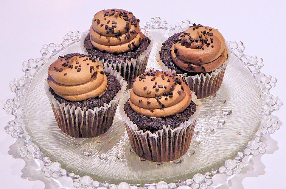 Black Rose Wallpaper Free Photo Chocolate Cupcakes Whipped Cream Free Image