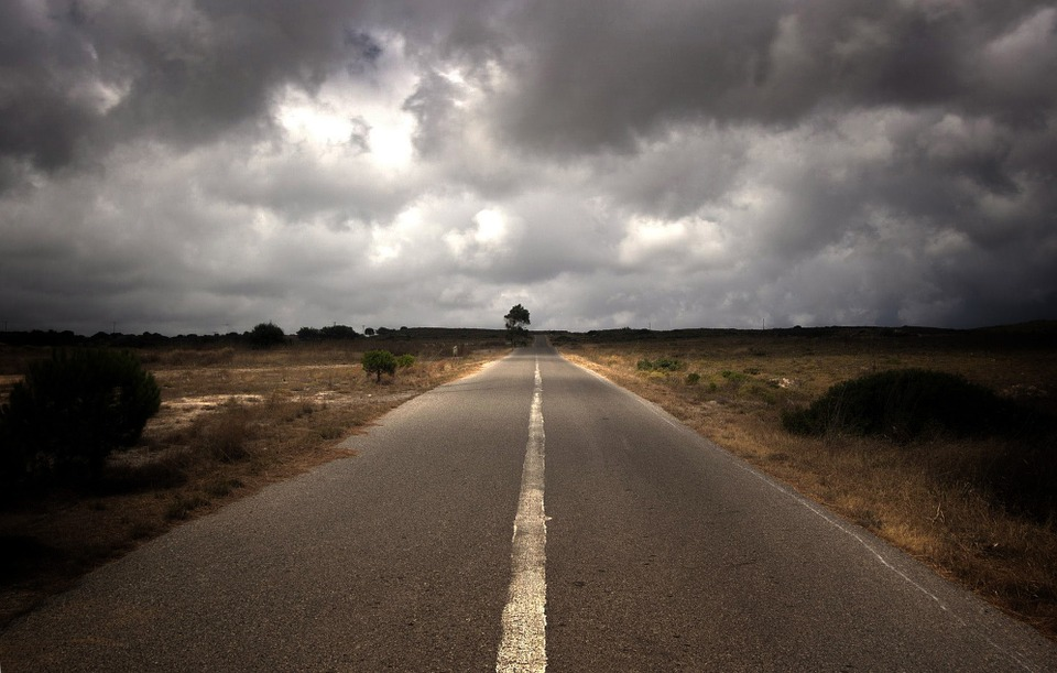 Free Fall Wallpaper For Computer Free Photo Open Road Road Cloudy Clouds Free Image