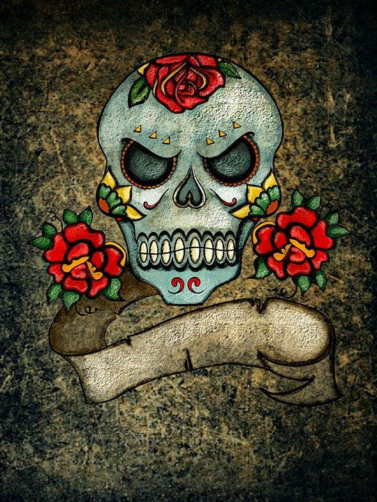 Wings Wallpaper Hd Totenkopf Rosen Hintergrund 183 Kostenloses Bild Auf Pixabay
