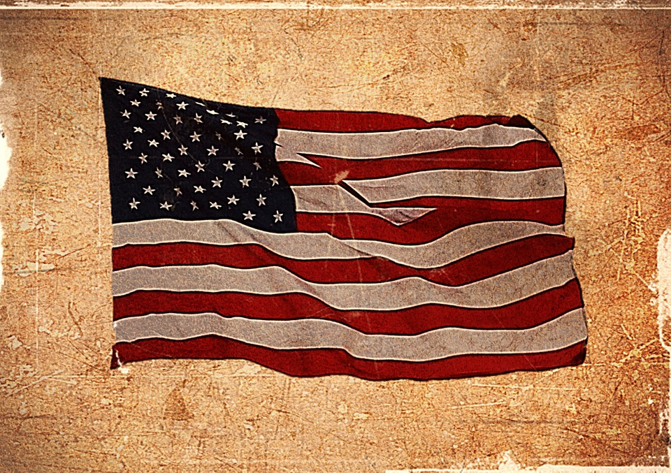 Free Illustration American Flag Usa Flag Textured