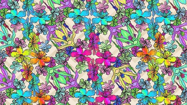 Cute Wallpaper Patterns Gratis Illustration Blommor Skriv Ut Rainbow Syra