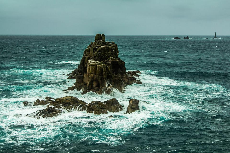 Black And Green Wallpaper Free Photo Ocean Rock Waves Wind Stormy Free Image