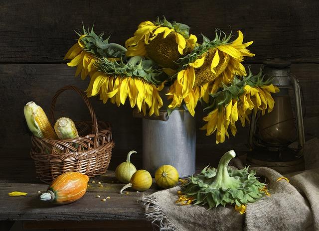 Fall Sunflower Wallpaper Still Life Sunflower Bouquet 183 Free Photo On Pixabay