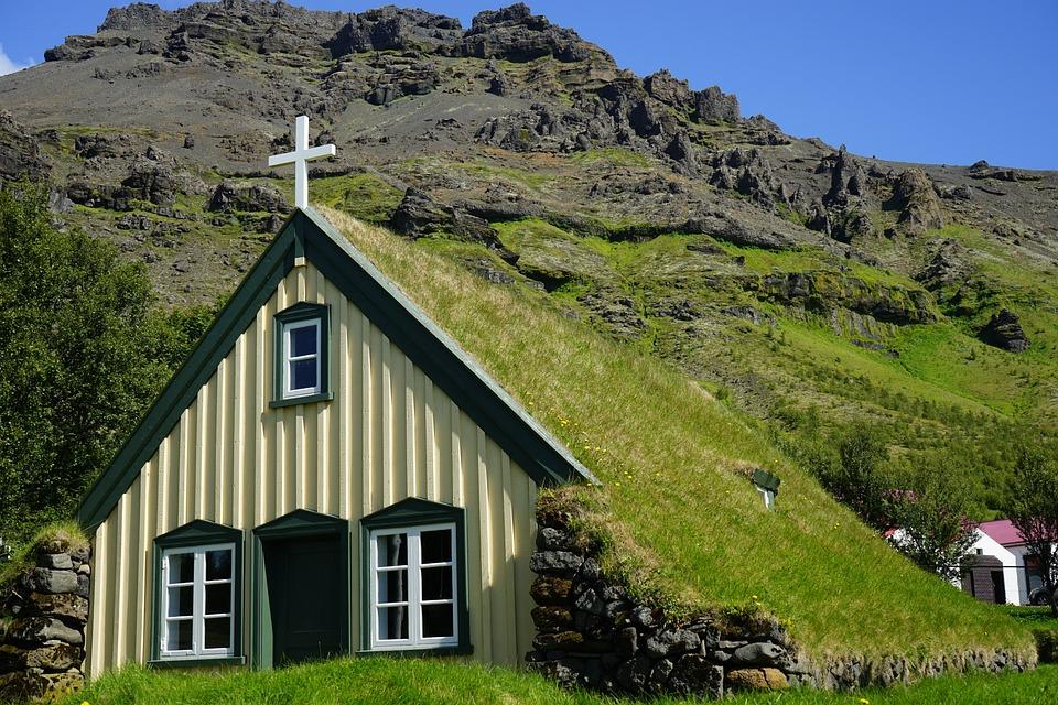 Green Animal Wallpaper Hofskirkja Iceland Church 183 Free Photo On Pixabay